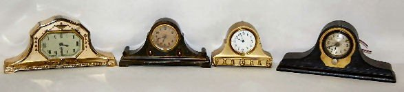 12A: New Haven, Lux and U.S.A. Metal Mantel Clocks