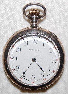 18: Waltham 15J, 6S, OF, DMK, Sterling Pocket Watch