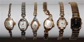25 6 Bulova Ladies Wrist Watches 5 Older 1 Modern