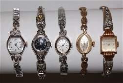 52 5 Wittnauer 14K Gold Ladies Wrist Watches