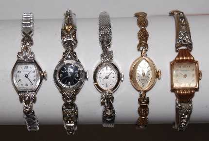 52 5 wittnauer 14k gold ladies wrist watches sciox Choice Image