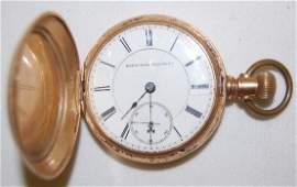 179: Elgin 14K, 18S, 15J B.W. Raymond Pocket Watch
