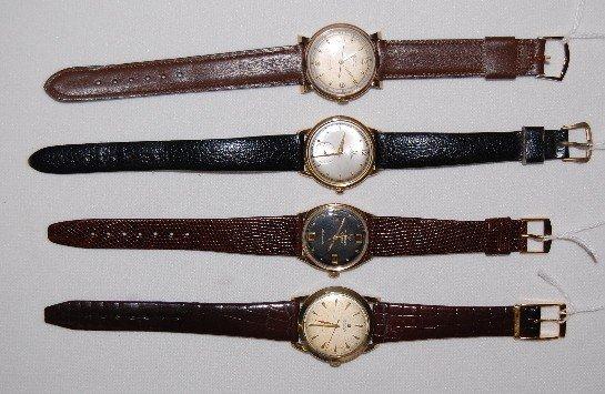 200: 4 Men's Wrist Watches: Cyma, Omega, Wittnauer +