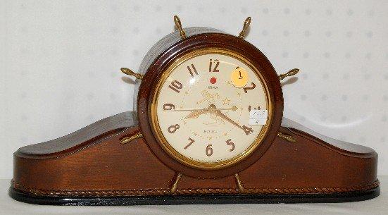 1: Telechron Ship's Bell Electric Clock, Model 6817