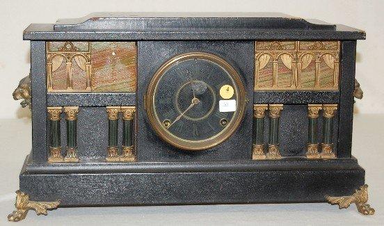 """4: Ingraham """"Palace"""" Enameled Wood Case Clock"""