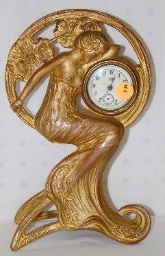 5: Jennings Brothers Art Nouveau Desk Clock