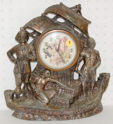 8: Pirate Ship Clock with Animated Dial