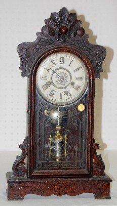 9: Walnut Kitchen Clock with Alarm