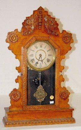 """12: Oak Gilbert """"Citizen No. 22"""" T & S Kitchen Clock"""