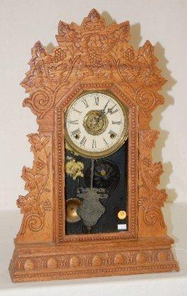 "14: Oak Gilbert ""Concord"" 8 Day Kitchen Clock"