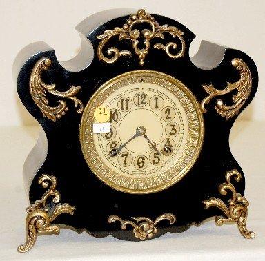 "21: New Haven ""Milan"" Iron Case Mantel Clock"