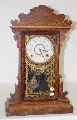 """22: E.N. Welch Black Walnut """"Valda"""" Kitchen Clock"""