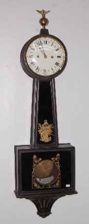 "23: New Haven ""Waring"" Style T & S Banjo Clock"