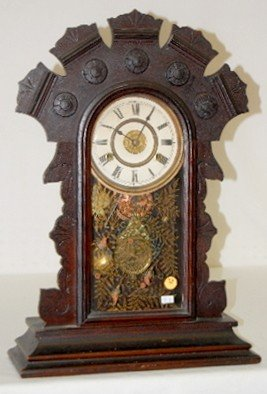 24: Dark Oak 8 Day T & S Alarm Kitchen Clock