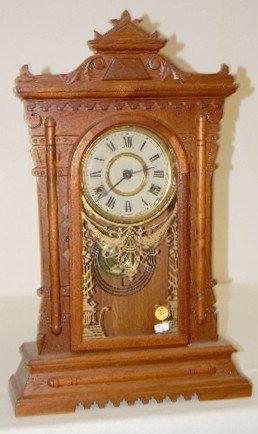 Oak T & S Kitchen Clock