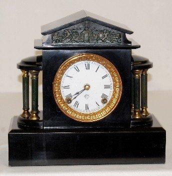 """28: Ansonia """"Ormonde"""" Enameled Iron Case Clock"""