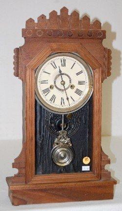 """30: Ansonia Black Walnut """"Werra"""" Kitchen Clock"""