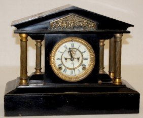 "Ansonia ""Loire"" Iron Case Mantel Clock"
