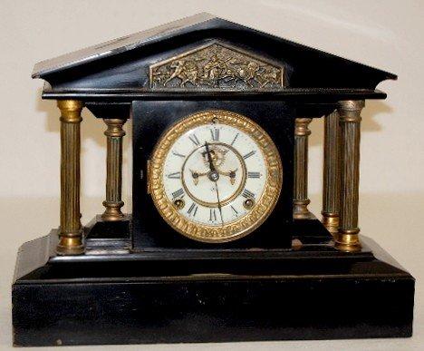 "32: Ansonia ""Loire"" Iron Case Mantel Clock"