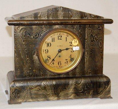 "34: Seth Thomas ""Belmont No. 6"" Mantle Clock"