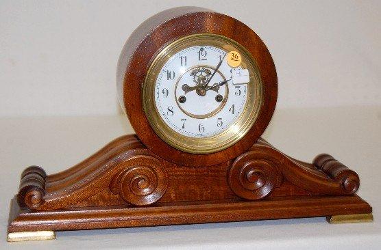 "36: Waterbury ""Kent"" Scroll Case Mantel Clock"