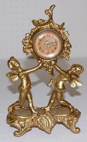 39A: Gilbert Metal Novelty Cherub Figural Clock