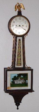 63: New Haven Willard Style Banjo Clock