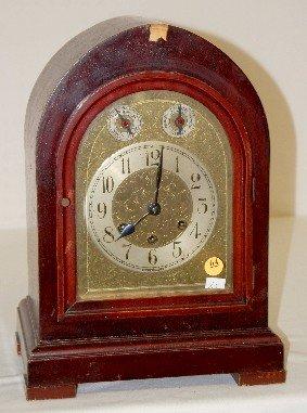 64: Gustav Becker 5 Bar Chiming Mantel Clock