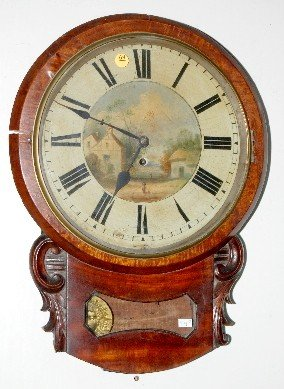 69: Single Fusee Tavern Style Wall Clock