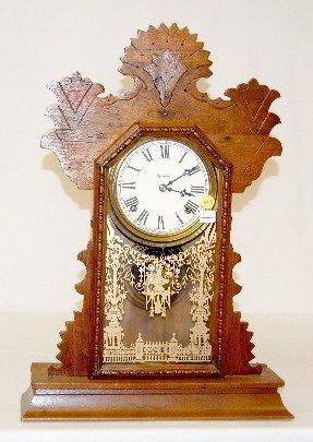 70A: Ingrahm Oak 8 Day Kitchen Clock