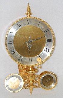 73: J.B. Hudson Co. Bronze 3 Function Clock