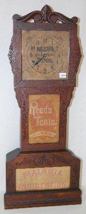 74: Reed's Tonic Advertising Shelf Clock