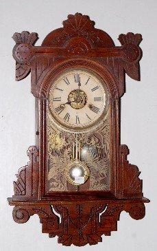 75A: Gilbert Oak Carved Wall Clock