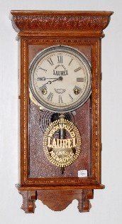 80A: Ingraham Oak 1/4 Store Regulator Clock