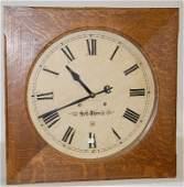 "110A: Seth Thomas Oak 24"" Square Gallery Clock"
