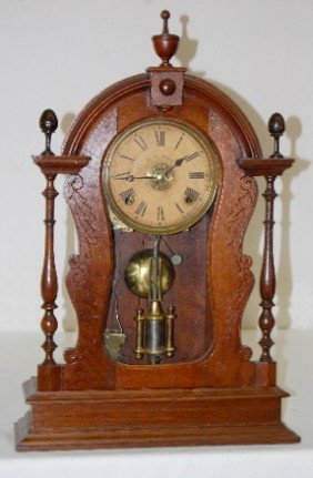 E.N. Welch Walnut T & S Parlor Clock