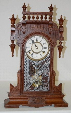 "Gilbert Walnut ""UNA"" Kitchen Clock"