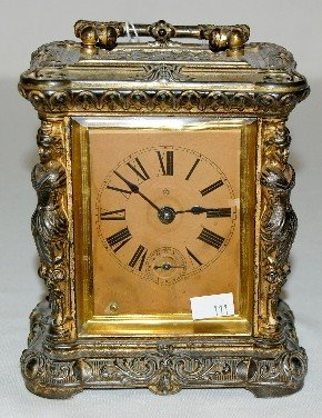 "156A: Ansonia ""Comet"" Carriage Clock"