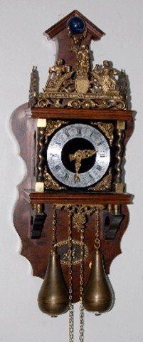 220: German Zan Dam Atlas Figural Wall Clock