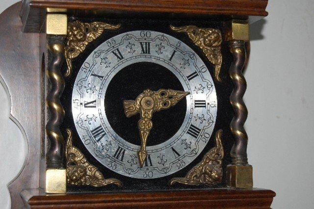 220: German Zan Dam Atlas Figural Wall Clock - 4