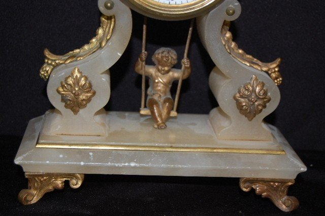 243: French Alabaster To & Fro Doll Swinger - 3
