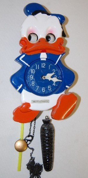276: Walt Disney Prod. Animated Donald Duck Clock
