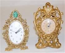 286A: Goldbuhl German & Waterbury Metal Novelty Clocks