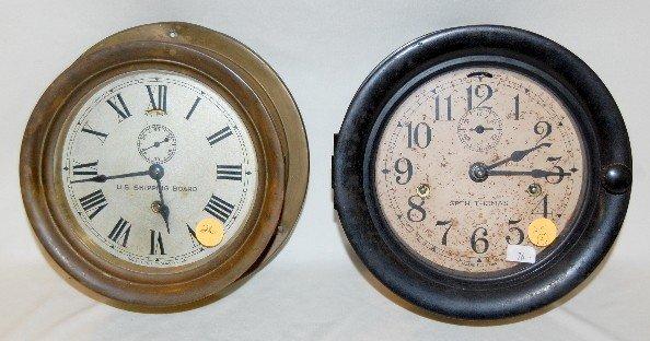 26: 2 Seth Thomas Ship's Bell Clocks