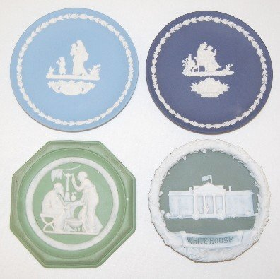 6: 4 Colored Jasperware & Wedgwood Plaques