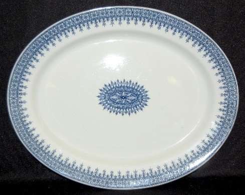 17: Royal Worcester Blue and White Platter