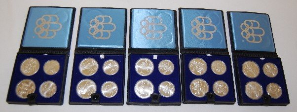 93A: 5 - 4 Coin Set Canadian Olympic Coins