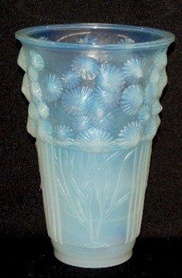 "115: Sabino Art Glass ""Algues Marines"" Vase, 1930"