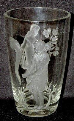 180: Signed Verlys Summer and Winter Vase - 3