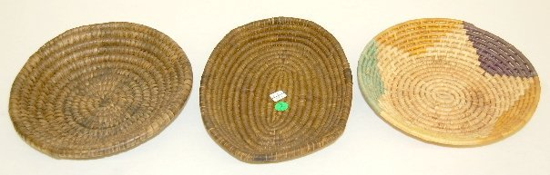 2: 3 Shallow Basketry Bowls